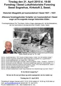 Foredrag i Seest Lokalhistoriske Forening